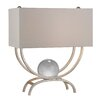 "House of Hampton Moonstone 20"" H Table Lamp with Rectangular Shade"