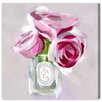 House of Hampton Rose Candle Painting Print on Wrapped Canvas
