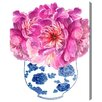 House of Hampton Morning Peonies Painting Print on Wrapped Canvas