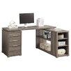 House of Hampton Charisse L-Shaped 3 Drawer Corner Desk
