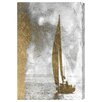 House of Hampton Sails Of Gold Luxe Graphic Art on Wrapped Canvas