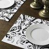 Linen Tablecloth Damask Cotton Placemat (Set of 4)