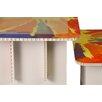 FunDeco Rainbow Kids 3 Piece Craft Table Set