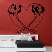 Kult Kanvas Wandsticker Heart Rose & Thorns Decal Vinyl
