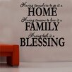 Kult Kanvas Home Family Blessing Decal Vinyl Wall Sticker