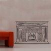 Kult Kanvas Open Fire Place Design 1 Decal Vinyl Wall Sticker