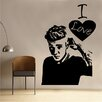 Kult Kanvas I Love Justin Bieber Wall Sticker