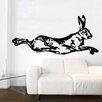 Kult Kanvas Hare Rabbit Running Shabby Wall Sticker