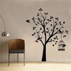 Kult Kanvas Shabby Elegance Bird Tree and Cage Wall Sticker