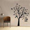 Kult Kanvas Wandsticker Shabby Elegance Bird Tree and Cage