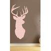 Kult Kanvas Shabby Elegance Stag Head Floral Wall Sticker