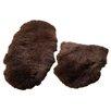 Origins Teppich aus Schafsfell in Schokoladenbraun