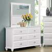 Breakwater Bay Cape Cod 6 Drawer Dresser with Mirror by Simmons Casegoods