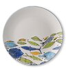 Blue Sky Ceramics 10.75'' School of Fish Dinner Plate