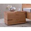 Woodlive Nachttisch mit 2 Schubladen