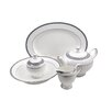 Shinepukur Ceramics USA, Inc. Classic Chablis Bone China Traditional Serving 5 Piece Dinnerware Set