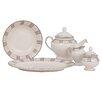 Shinepukur Ceramics USA, Inc. Linen Ivory China Traditional Serving 5 Piece Dinnerware Set