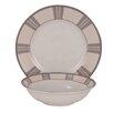 Shinepukur Ceramics USA, Inc. Linen Ivory China 24 Piece Completer Set