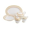 Shinepukur Ceramics USA, Inc. Absinthe Bone China Traditional Serving 5 Piece Dinnerware Set