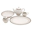 Shinepukur Ceramics USA, Inc. Diamond Fine China Traditional Serving 5 Piece Dinnerware Set