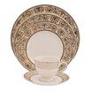 Shinepukur Ceramics USA, Inc. Ambrosia Ivory China 5 Piece Place Setting (Set of 4)
