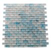 """Abolos Amber 0.63"""" x 1.25"""" Glass Mosaic Tile in Sky Blue"""