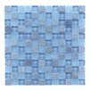 """Abolos Mineral 1"""" x 1"""" Glass and Slate Mosaic Tile in Blue Gray"""