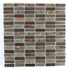 """Abolos 0.63"""" x 2"""" Glass and Quartz Mosaic Tile in Brown"""