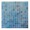 """Abolos LEED Amber 0.75"""" x 0.75"""" Glass Mosaic Tile in Royal Blue"""