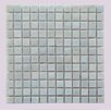 "Abolos LEED Amber 0.75"" x 0.75"" Glass Mosaic Tile in White"