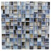 "Abolos Handicraft 1"" x 1"" Glass Mosaic Tile in Blue Gray"