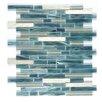 Abolos Ice Honey Berries Random Sized Glass Mosaic Tile in Blue/White
