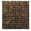 "Abolos Venus 0.63"" x 0.63"" Glass Mosaic Tile in Brown Neon"