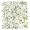 """Abolos Hexagon 11.33"""" x 10.75"""" Glass Mosaic Tile in Champagne"""