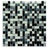 """Abolos Crystal Stone 0.63"""" x 0.63"""" Glass Mosaic Tile in Gray"""