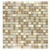 "Abolos Crystal Stone 0.63"" x 0.63"" Glass Mosaic Tile in Beige Mix"
