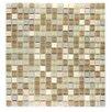 "Abolos Crystal Stone 0.63"" x 0.63"" Glass Mosaic Tile in Cornsilk"