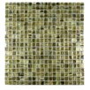 """Abolos Honey Berries 0.63"""" x 0.63"""" Glass Mosaic Tile in Gray"""