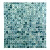 "Abolos Honey Berries 0.63"" x 0.63"" Glass Mosaic Tile in Blue Pearl Ocean"