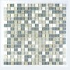 """Abolos Crystal Stone 0.63"""" x 0.63"""" Glass Mosaic Tile in Angel Feather"""