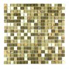 """Abolos Crystal Stone 0.63"""" x 0.63"""" Glass Mosaic Tile in Amber Grain"""