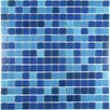 "Abolos Swimming Pool 0.75"" x 0.75"" Glass Mosaic Tile in Superiority Blue"