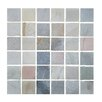 """Abolos 1.87"""" x 1.87"""" Stone Mosaic Tile in Desert Gray"""