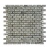 """Abolos 0.87"""" x 0.62"""" Stone Mosaic Tile in Gray"""