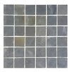 "Abolos 1.87"" x 1.87"" Stone Mosaics Tile in Dark Silver Dust"
