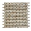 "Abolos 0.67"" x 0.87"" Stone Mosaic Tile in Brown"