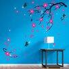 Walplus Wandsticker Swarovski with Pink Blossom Flowers