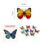 Walplus 3D Shining Colourful Butterflies for Nursery Room Wall Sticker