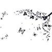 Walplus Wandsticker Swarovski Black Butterfly Vine Art