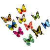 Walplus 3D Colourful Butterfly Wall Sticker